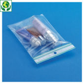 Sachet plastique zip 50% recyclé transparent 60 microns RAJAGRIP Green