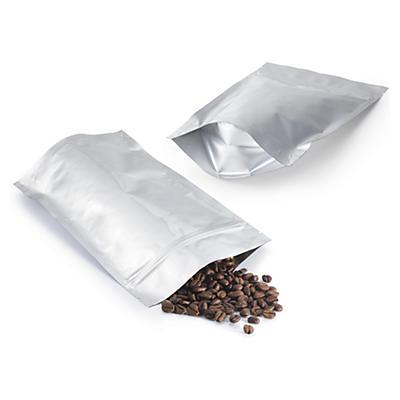 Sachet plastique zip aluminium opaque à soudures étanches