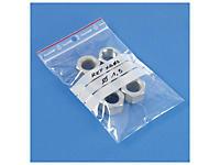 Sachet plastique zip à bandes blanches 100 microns RAJAGRIP Super