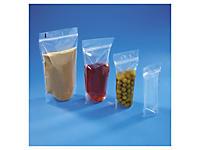 Sachet plastique zip à soudures étanches 100 microns RAJAGRIP Super##Standbodenbeutel mit Druckverschluss