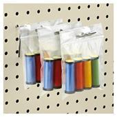 Sachet plastique zip transparent à trou de suspension européen
