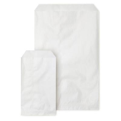 Sachet plat kraft blanc