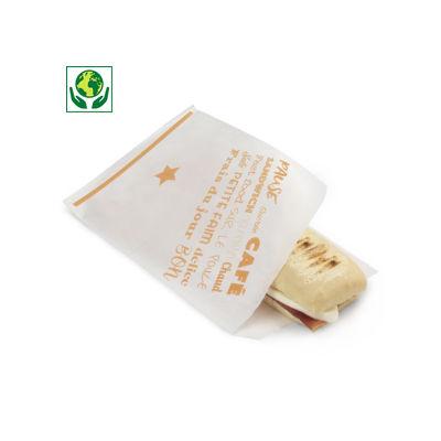 Sachet sandwich avec ouverture latérale