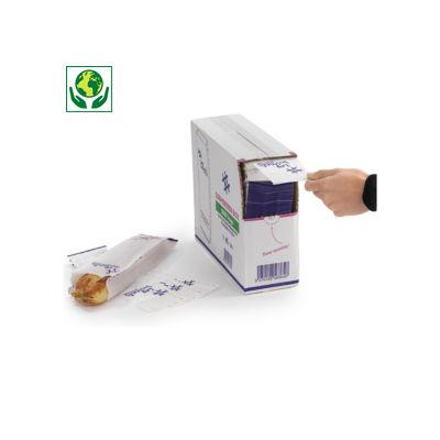 Sachet sandwich papier en boîte distributrice