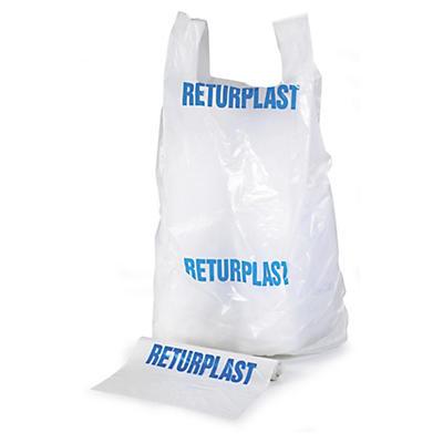 Säck för returplast i 50my plast som rymmer 240 liter