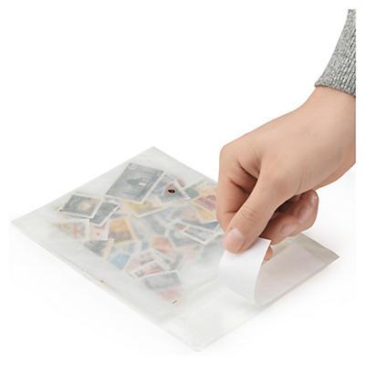 Sáčky zo skleneného papiera sa samolepiacim uzáverom