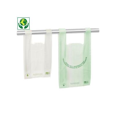 Saco biodegradável de alças