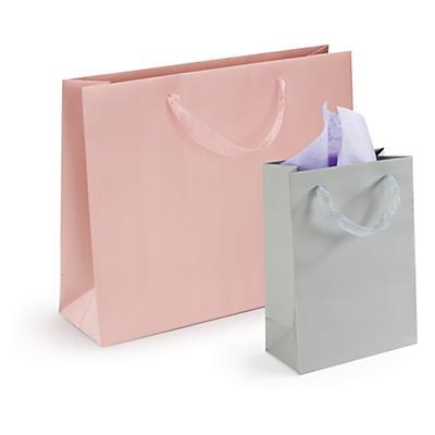 Saco de papel plastificado com asas de organdi