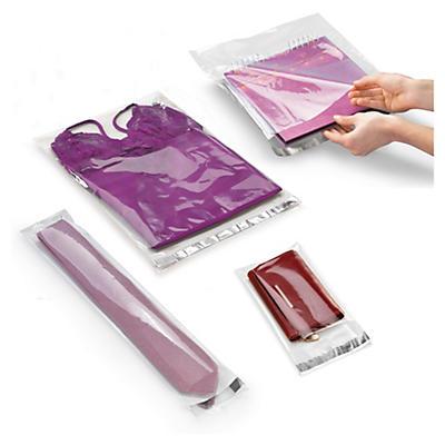 Saco de plástico de alto brilho com fecho adesivo de 40 a 60 mícrones