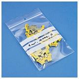 Saco de plástico com fecho zip e barras brancas 50 mícrones RAJA Eco