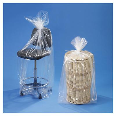 Saco de plástico com fole 100 mícrones 100% reciclado