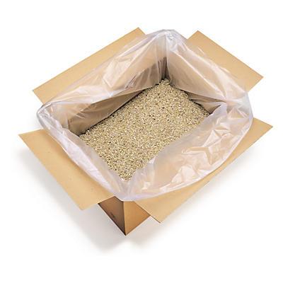 Saco de plástico com fole 12 mícrones