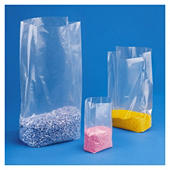 Saco de plástico com fole 30 mícrones RAJABAG