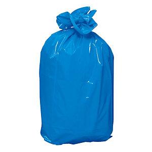 Sacs poubelle 120 L 70 micron bleus , par lot de 100