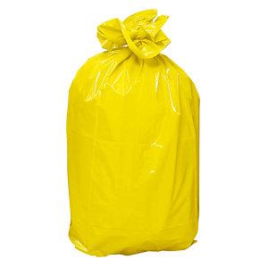 Sacs poubelle jaune 110 L, le carton de 200