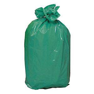 Sacs poubelle vert 110 L, le carton de 200