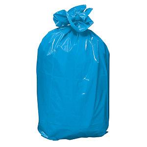 Sacs poubelles bleu 120 L, le carton de 200