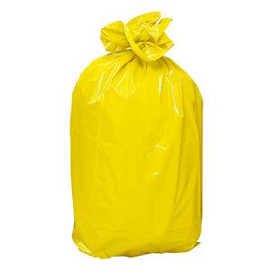Sacs poubelles jaune 110 L, le lot de 100