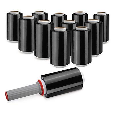 Sada 20 roliek čiernej napínacej mini fólia 100 mm RAJA STRETCH Eco