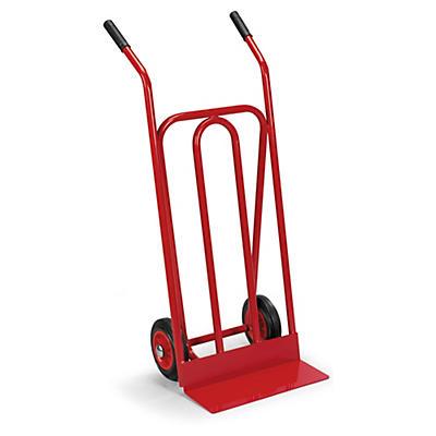 Sækkevogn med fast lasteflade - Rød