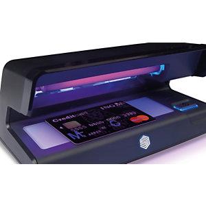 Safescan 70 Detector ultravioleta de billetes falsos; diseño compacto; lámpara UV de 9 W; zona LED de luz blanca; apagado automático; negro