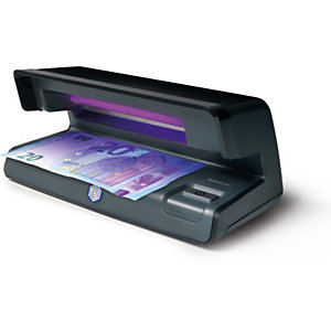 Safescan Détecteur de faux billets ultraviolet 50; conception plate; résultats instantanés; lampe UV 7W; noir