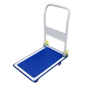 Safetool Chariot pliant silencieux - 150 kg, bleu