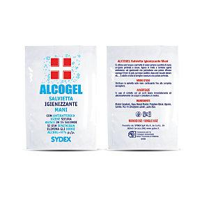 Salvietta igienizzante con antibatterico Alcogel in bustina (confezione 1.000 pezzi)