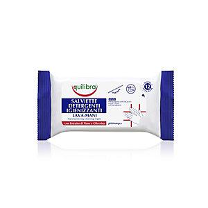 Salviette detergenti igienizzanti lava mani Equilibra con estratto di timo e glicerina (confezione 12 pezzi)
