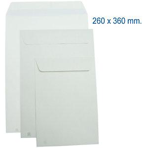 SAM AUTOSAM, Sobre de catálogo, 360 x 260 mm, autoadhesivo, papel, blanco
