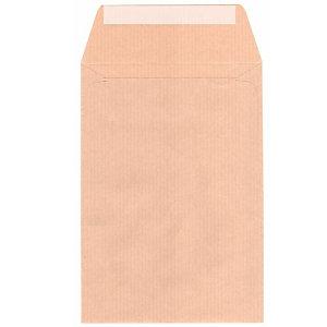 SAM AUTOSAM, Sobre para salarios, 132 x 187 mm, autoadhesivo, papel kraft, marrón