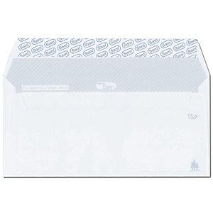 SAM Sobre empresarial, 225 x 115 mm, autoadhesivo, papel, blanco