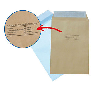 SAM Sobre empresarial, C4 internacional, 229 x 324mm, autoadhesivo, papel kraft, marrón