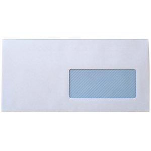 SAM Sobre empresarial, DL, 110 x 220 mm, con ventana, autoadhesivo, papel, blanco