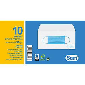 SAM Sobre porta mascarillas, paquete de 10