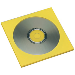 SAM Sobres para CDs de papel amarillo
