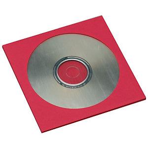 SAM Sobres para CDs de papel rojo
