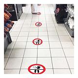 Samolepicí podlahové značení