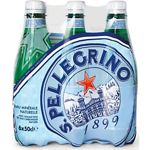 San Pellegrino Agua mineral natural con gas, botella PET, 500 ml