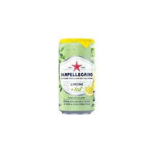 San Pellegrino Limone + Tea - Boisson pétillante bio à l'extrait de thé et au jus de citron d'Italie - Lot de Canettes 25 cl