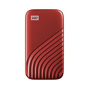 Sandisk Western Digital My Passport, 500 GB, USB Tipo C, 3.2 Gen 2 (3.1 Gen 2), 1050 MB/s, Protección mediante contraseña, Rojo WDBAGF5000ARD-WESN