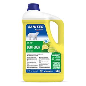 SANITEC Deo Floor Detergente super deodorante concentrato per pavimenti, Limone, Tanica 5 kg