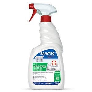 SANITEC Detergente igienizzante con acqua ossigenata ACTIVE OXYGEN, Flacone spray da 750 ml