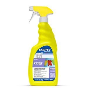 SANITEC Detergente pretrattante X3 SOLV, A base di solventi, Spray da 500 ml