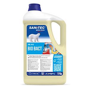 SANITEC Disgorgante BIOBACT, Con attivatore enzimatico biologico, Tanica da 5 litri