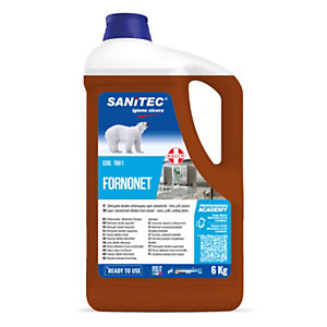 SANITEC Fornonet Sgrassante schiumogeno per Forni, Piastre e Grill, Tanica 6 kg
