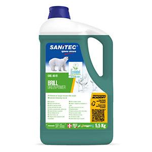 SANITEC Green Power Brillantante per lavastoviglie professionali, Flacone 5,5 kg
