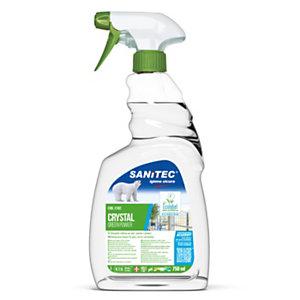 SANITEC Green Power Detergente multiuso vetri, Flacone spray 750 ml