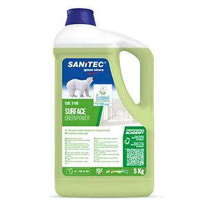 SANITEC Green Power Detergente pavimenti, Flacone 5 kg