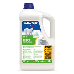 SANITEC Green Power Piatti Detergente lavapiatti manuale, Flacone 5 kg